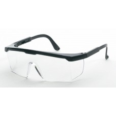 GLASSES,SAFETY W/BLACK FRAME,CLEAR LENS