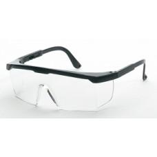 GLASSES,SAFETY W/BLACK FRAME,CLEAR LENS
