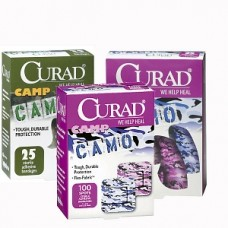 Camo Fabric Adhesive Bandages 3/4X3, Case of 24 by Curad