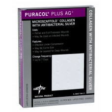 "Antimicrobial Puracol Plus Collagen Dressings, COLLAGEN, PURACOL PLUS AG, 2X2"", Box of 10"