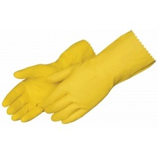 "GLOVE,YELLOW LATEX,FLOCK LINED12"","