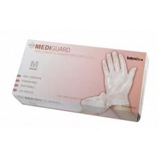 Medline MediGuard Vinyl Synthetic Exam Gloves, Case of 1,000 gloves, 10 Boxes/case