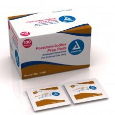 Dynarex Povidone Iodine Prep Pads (Case of 1000)