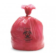 "Biohazard Trash Liners NONHDR24 LINER, RED, 24""X24"", 10 GAL 13 MIC (CASE OF 1000 LINERS)"