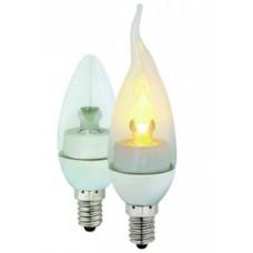 Candelabra 3W 2700K flame shape 120VAC RSL35A-3W-2700K-TD-FL-ZN, Pack of 4 bulbs