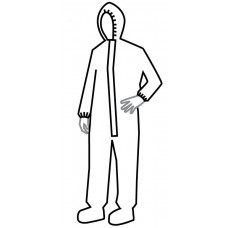 Hazmat Infection Control Coverall Garment by Dupont, Size 3X (Case of 6 garments) DUCC3122TTN3X