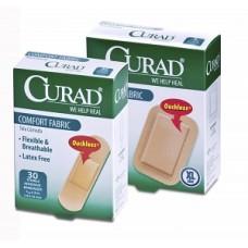 Fabric Bandages 3/4X3, 30CT, 24BX / CS, Case of 24 Curad Comfort