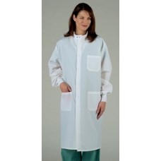 Medline Unisex ASEP Barrier Full Length Snap Front Lab Coat