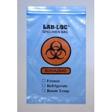Plastics BAG,SPECIMEN TRNSFR,BIOHZRD,BLUE,6X9,2ML Elkay